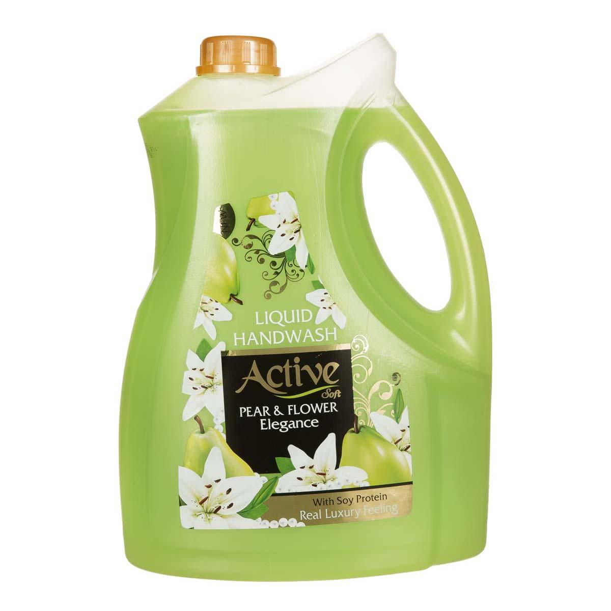 مایع دستشویی صدفی سبز 3750 گرمی اکتیو