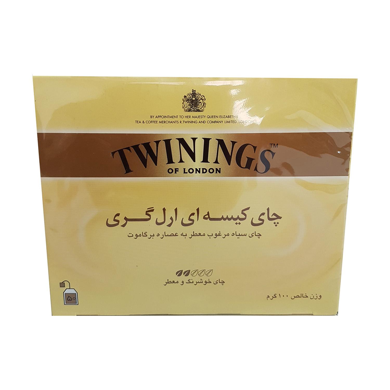 چای کیسه ای 50 عددی عطری (توینینگ)