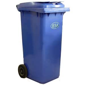 سطل زباله چرخ دار 240 لیتری آبی IESA