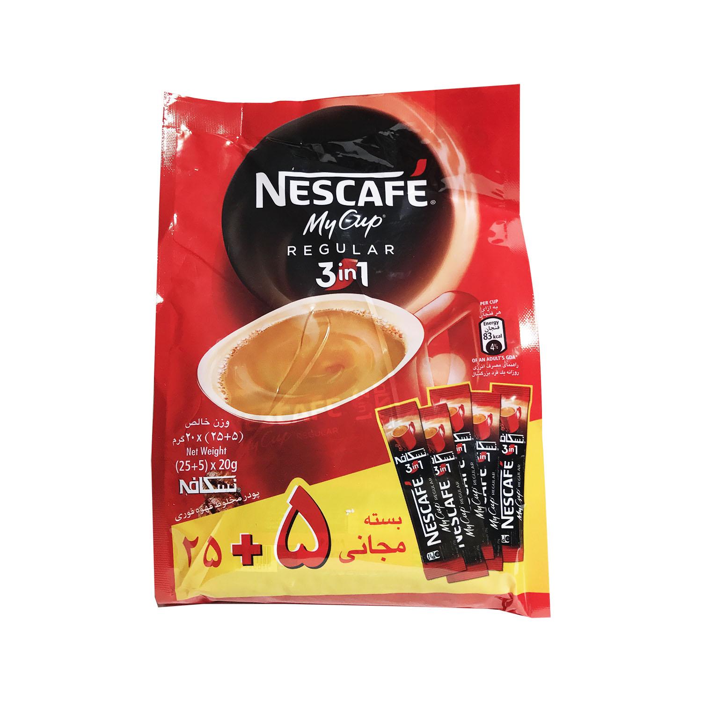 قهوه فوری 30 عددی سه در یک (NESCAFE)