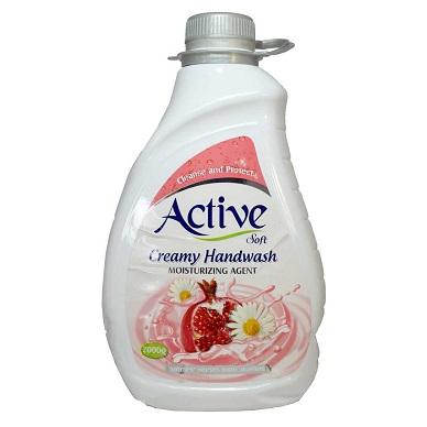 مایع دستشویی کرمی صورتی اکتیو 2 لیتری