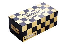 دستمال کاغذی طرح شطرنجی 300 برگ (سافتلن)