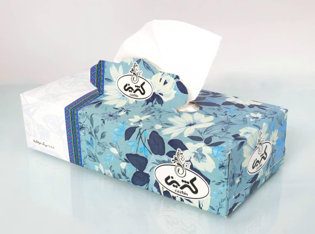 دستمال رومیزی 100 برگ دولا کژین