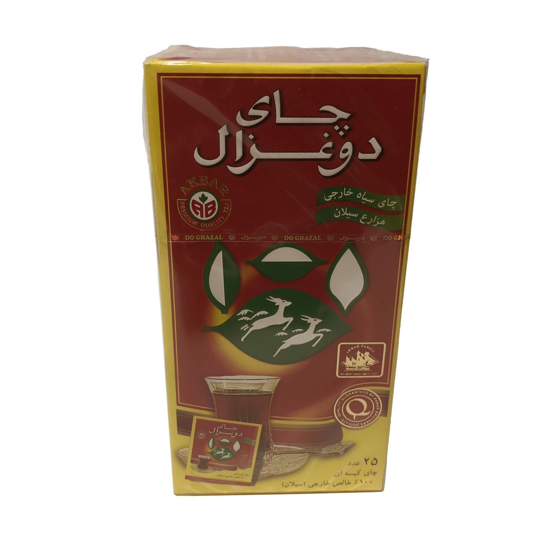 چای کیسه ای 25 عددی (دوغزال)