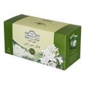چای سبز کیسه ای  25 عددی با طعم  گل یاس (احمد)