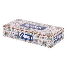 دستمال کاغذی 100 برگ طرح ترمه (سافتلن)