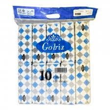 دستمال کاغذی فله ای10تایی گلریز